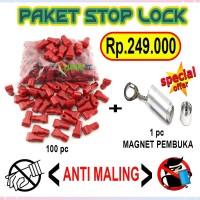 PAKET STOP LOCK SECURITY DISPLAY / KUNCI RAM MAGNET / PENGUNCI RAK
