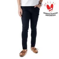 celana soft jeans super stretch giova hitam skinny fit bkn slim leging