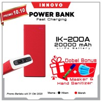 Power Bank 20000mAH INNOVO ORIGINAL Portable Charger LED Torch IK-200A