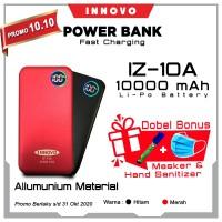 Power Bank 10000 mAH INNOVO ORIGINAL Portable Charger Display IZ-10A