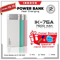 Power Bank 7500 mAH INNOVO ORIGINAL Portable Charger Leather IK-75A