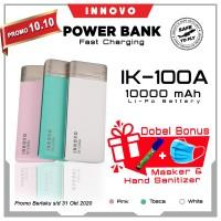 Power Bank 10000 mAH INNOVO ORIGINAL Portable Charger Leather IK-100A