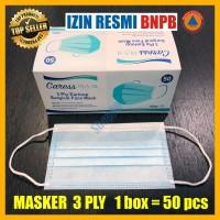 Masker Medis 3 ply Earloop Steril Anti Virus Surgical Mask 3ply Bedah