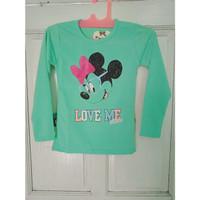 T-shirt | Kaos Anak Perempuan 8 - 9 - 10 Tahun Lengan panjang