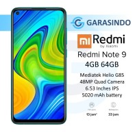 Xiaomi Redmi Note 9 4/64 GB 4GB 64GB Garansi Resmi Xiaomi Indonesia