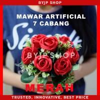 ARTIFICIAL ROSE BUKET BUNGA MAWAR PALSU DEKORASI PREMIUM FLOWER RED