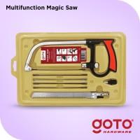 Magic Saw Gergaji Kayu Besi Pipa Multifungsi Set 3 Way Blade Serbaguna
