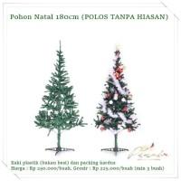 NATL-37 : Pohon Natal 1,8m POLOS TANPA HIASAN (BACA SEBELUM ORDER)