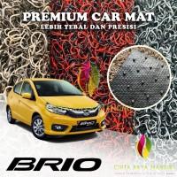 Karpet Mobil Premium HONDA Brio Full Bagasi 2 Warna - REDBLACK