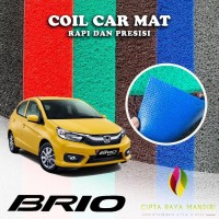 Karpet Mobil Premium HONDA Brio Full Bagasi 1 Warna - Biru