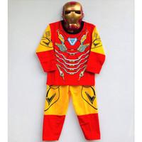 Setelan Piyama Baju Tidur Anak Topeng Ironman dan Ultraman 4-7 Tahun