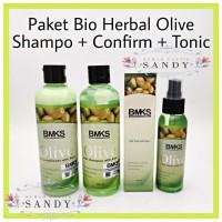 PAKET BMKS OLIVE 3 in 1 ~ ( Shampoo + Conditioner + Hair Tonic)