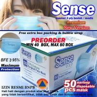 Masker Bedah Medis 3 Ply Earloop (harga per box)