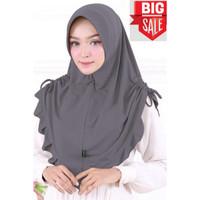 jilbab instan jersey kariim - dark grey