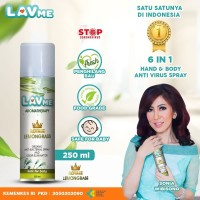 Lavme Disinfectant Spray Anti Virus Organic - 250 ML Lemongrass