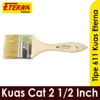 Kuas Eterna 2-1/2 Inch kuas cat tembok besi kayu 611