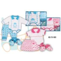 (3 in 1) Kiddy Baby Gift Set Jumper Celana / Rok 161