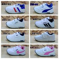 Sepatu Anak Laki Perempuan Cowok Cewek Sneakers Olahraga Sekolah Putih - 24