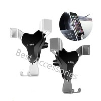 Phone Holder Model V Klip AC Vent GRAVITASI HP O595