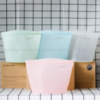1PCS 1500ML ROSE QUARTZ SILICONE ZIP LOCK BAG GRE0066-4 - GREATER GOOD
