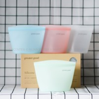 1PCS 500ML PASTEL JADE SILICONE ZIP LOCK BAG GRE0067-2 - GREATER GOOD