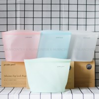 1PCS 1500ML PASTEL JADE SILICONE ZIP LOCK BAG GRE0067-4 - GREATER GOOD