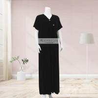 Lunaci Black Kimono Maxi Dress