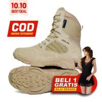 Delta Force Sepatu Boots Kulit Import Dessert 516 Tinggi 8 Inch