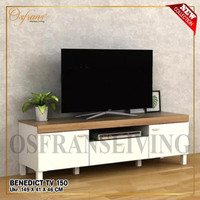Rak TV Benedict White Yellow Oak