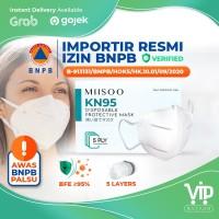 Disposable Mask KN95 N95 Facemask Kesehatan Masker Wajah 5 Layer BNPB - KN95 1pcs