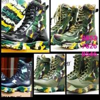 Sepatu boots pria PDL loreng brimob ciarmy C 020LH