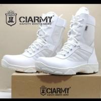 Sepatu boots pria kulit putih PDL pataka ciarmy C01P 40
