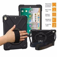 "IPAD Pro 9.7 "" Defender Military Hybrid Armor Case Strap Rugged Cover"