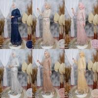 Setelan Kebaya Gamis Tulle Duyung 3 Aneka Warna Cantik