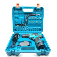 Benz Mesin Bor Baterai Cordless Drill 10MM 12V + 24Pcs BZ-8004