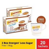 2 Box Energen Less Sugar Free 1 Mug