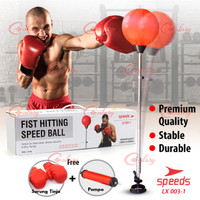 Ball Standing Boxing Ball Fight Box Samsak Bola Sarung Tinju 003-01 - Merah
