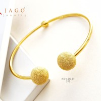 Gelang Emas Aurora - gelang oval bangle kadar 375