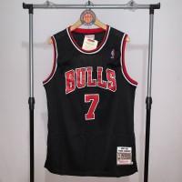 Jersey Basket Swingman NBA Chicago Bulls Toni Kukoc black hitam merah