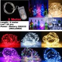 Lampu Tumblr Kawat / Lampu Hias LED Kawat 2 Meter Isi 20 LED