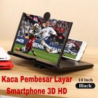 Pembesar Layar Smartphone 3D HD Ukuran 10 Inch / Pembesar Layar HP - Putih