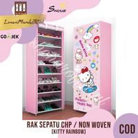 Rak Sepatu CHP Cover Karakter 10 Susun 2Kg - KITTY RAINBOW,SHENAR