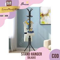 Multifunction Stand Hanger / Gantungan Baju Tas Topi - Black,SHENAR