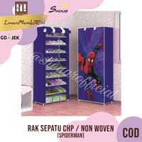 Rak Sepatu CHP Cover Karakter 10 Susun 2Kg - SPIDERMAN,SHENAR