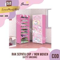 Rak Sepatu CHP Cover Karakter 10 Susun 2Kg - KITTY UNICORN,SHENAR