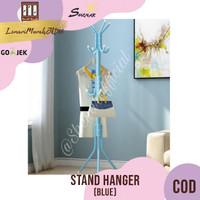 Multifunction Stand Hanger / Gantungan Baju Tas Topi - Blue,SHENAR