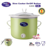 Baby Safe Slow Cooker On/Off Button 0.8L LB008 Perlengkapan MPASI
