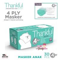 Thankful Masker Isi 30 Masker Anak Earloop Kids Face Mask Multifungsi