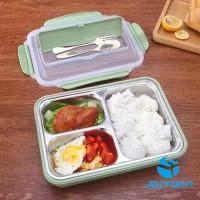 Lunch Box Kotak Makan Set dengan Sendok Garpu