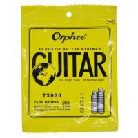 1 Set Senar Gitar Orphee Akustik / Acoustic TX 630 Original Size 11